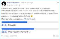Accéder au sondage sur Facebook
