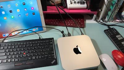 mac mini2020+キーボード写真