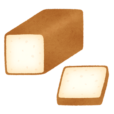 食パン1斤のイラスト(角型)