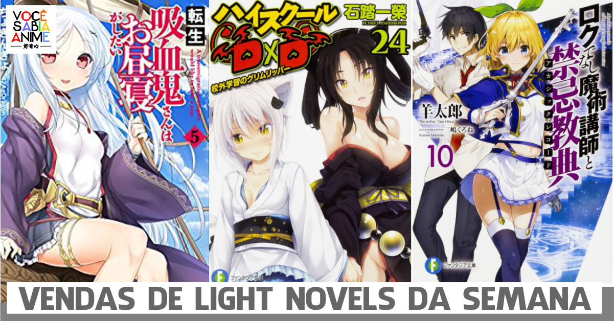 Light Novels mais vendidas da semana - Novembro 19