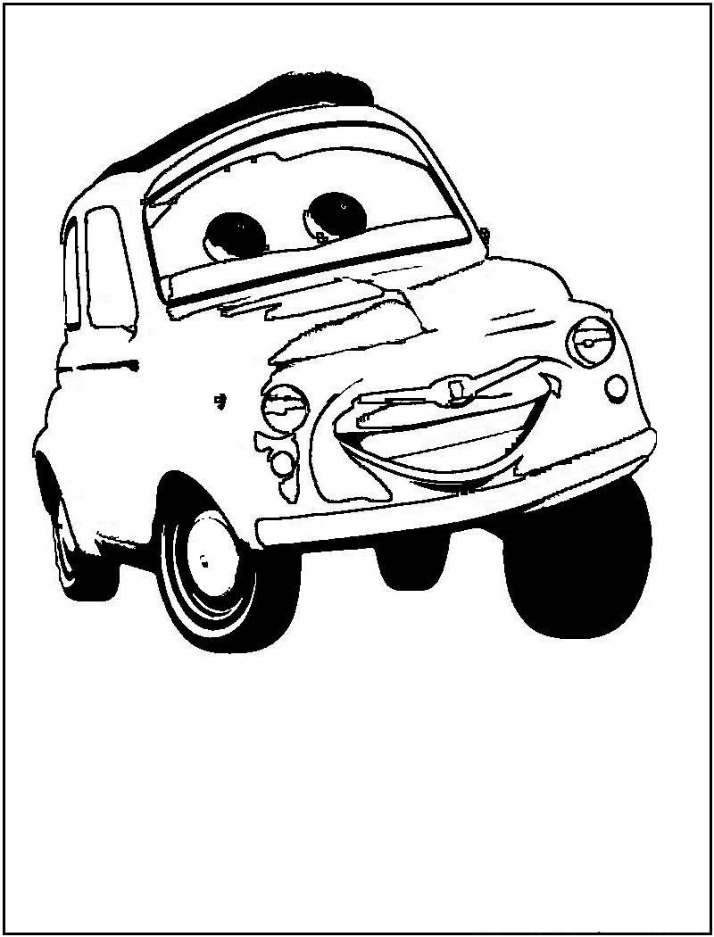 Disney cars coloring pages for kids disney coloring pages for Kids coloring pages cars