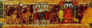 Pedro el Ermitaño arengando a los cruzados