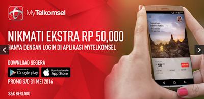 Cara Mendapatkan Pulsa Gratis 50 Ribu Dari Telkomsel
