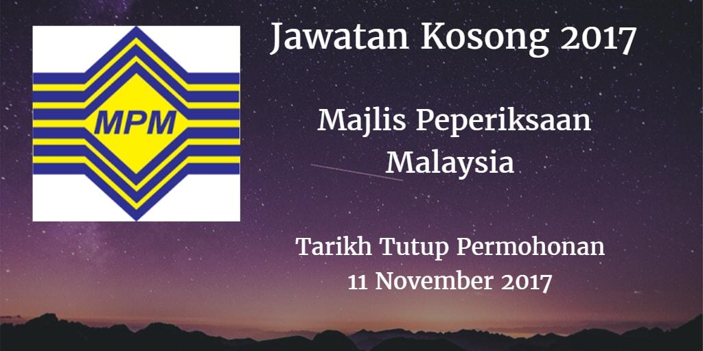 Jawatan Kosong MPM 11 November 2017