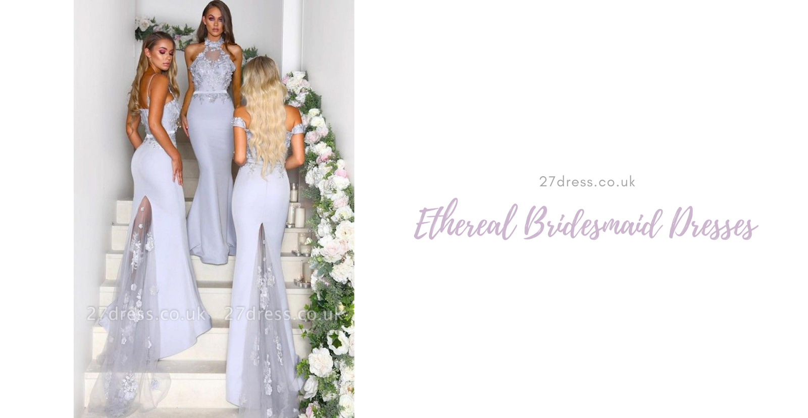 bridesmaid with beautiful dress on the stair