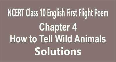 Chapter 4 How to Tell Wild Animals