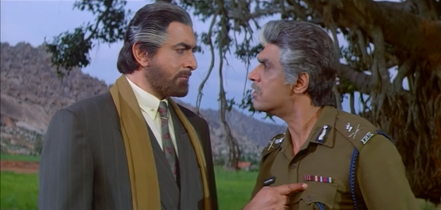 """Yalgaar is an Indian Hindi  language action film simultaneously starred, produced, directed and edited by Feroz Khan in 1992. This film is also starred by Sanjay Dutt, Manisha Koirala, Nagma, Mukhesh Khanna, Vicky Arora, Bishwajeet Pradhan and some others. The story and screenplay of the film are written by Praful Parekh and Rajeev Kaul. Besides, dialogues are written by Kamlesh Pandey.  The film's main theme is about, """"Two childhood friends grow up to be on the opposite sides of the law. One of them is a crime lord.""""     Plot Summary:   Two childhood friends become enemies while Mahendra Ashwini Kumar as an additional police commissioner living with his family doing public service sincerely. On the other hand the crime lord Raj Pratap Singhal becomes a smuggler and lives with his family. There are two sons Vishal and Vicky of him. But Vicky does not live with his family as he does not like crime, illegal activities. He works at an engineering garage. Ashwini Kumar has also two sons Brajesh and Rajesh. They are also police officers. But Brajesh is killed by a henchman of Singhal. Rajesh Rajesh gets up and down to take revenge of his brother. But ha can not be succeeded. On the other hand, Meghna, Brajesh's daughter encounters with a young man named Vicky. They fall in love with each other. Meghna's family is agreed to accept their relationship without knowing Vicky's father's identification. When Ashwini arrests Singhal and takes him to the court, he can know that Vicky is Singhal's little son. Singhal stands to be an interruption of Ashwini's promotion as police commissioner from additional police commissioner. Vishal hires an international killer to kill Ashwini. Ashwini is killed by the killer and Singhal and his family pull away with forcing Meghna to abroad. But Rajesh also goes to United Arab Emirates and killed Vishal. Singhal is caught by the police. He has taken to the jail. Meghna, Vicky, Rajesh, Sunita and Kaushalya live in happiness. Criticism:  The film"""