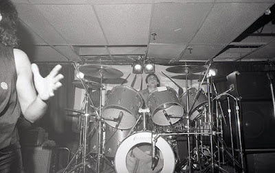Condor on stage at Traces rock club in Hillsdale, New Jersey 1982