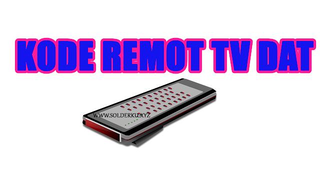 Kode Remot tv DAT