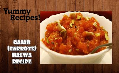 Gajar Halwa Recipe - Carrots Halwa Recipe