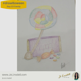#Drawlloween Day 22 candy #Drawing #challenge