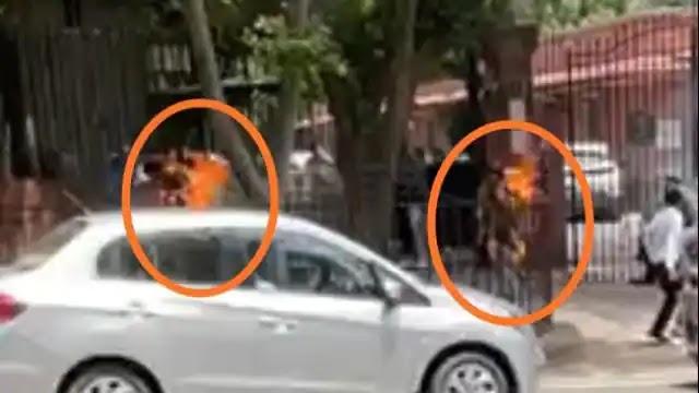 सुप्रीम कोर्ट के सामने आग लगाने वाली रेप पीड़िता के साथी की मौत