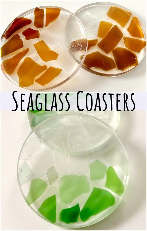 Resin Seaglass Coasters