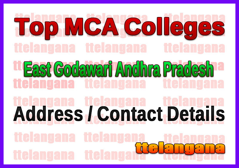 Top MCA Colleges in East Godawari Andhra Pradesh