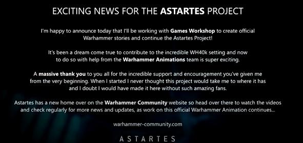 astartes project Games Workshop