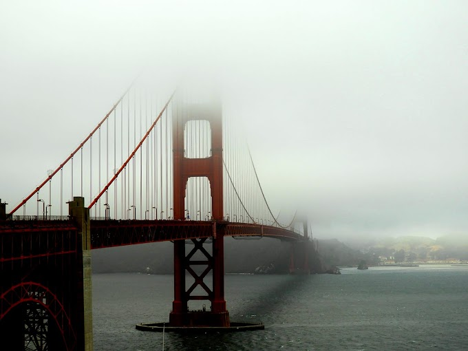 A cloudy winter afternoon Golden Bridge