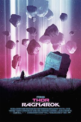 Thor: Ragnarok Screen Print by Dániel Taylor x Mondo x Marvel