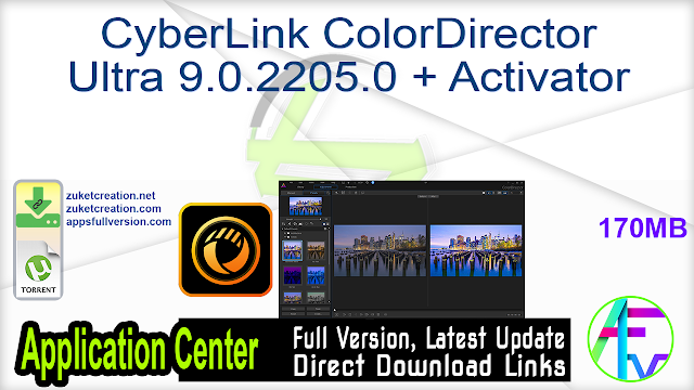 CyberLink ColorDirector Ultra 9.0.2205.0 + Activator