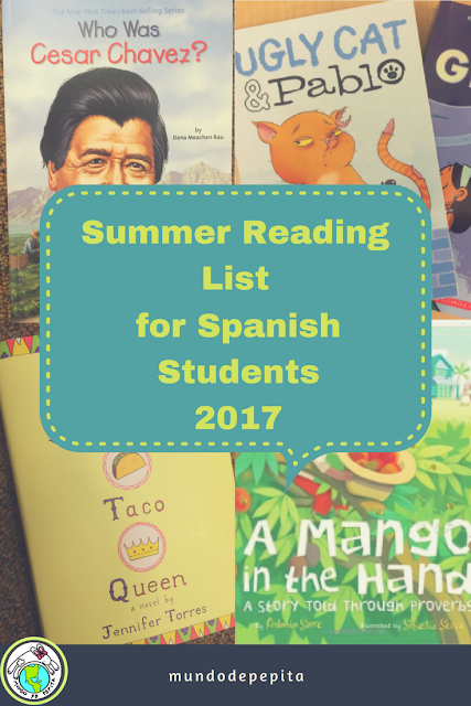 Summer Reading List with a Spanish Flavor for Children and Families 2017