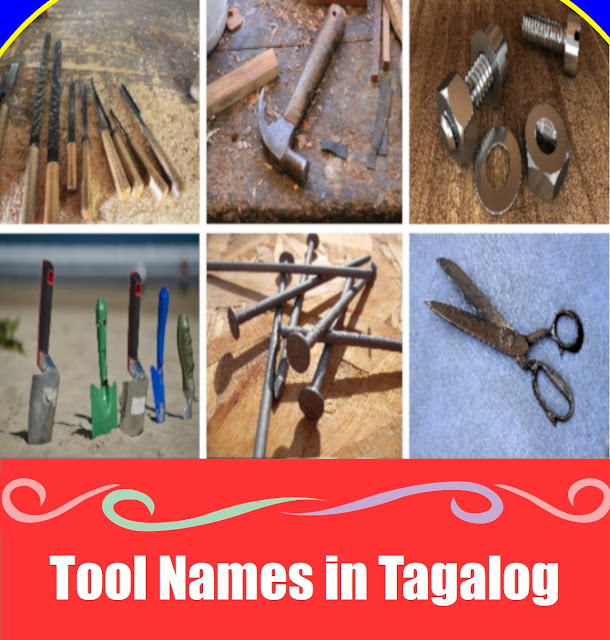 Tools Word List in Tagalog