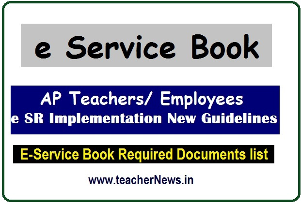 e SR Implementation New Guidelines for AP Teachers/ Employees 2020 as per RC 02/SPL