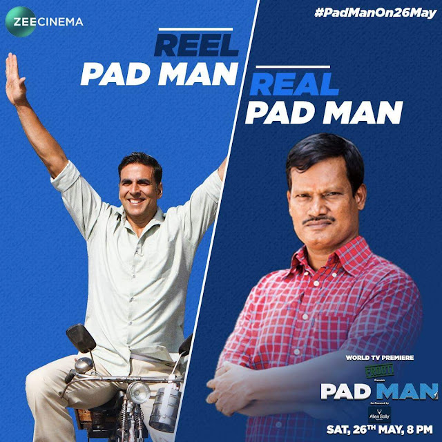 'Pad Man' Movie Tv Premier on Zee Cinema Wiki,Timing,Song,Cast