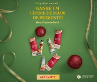 Promoção: Compre e Ganhe Creme Grátis L'Occitane Au Brésil Natal 2020