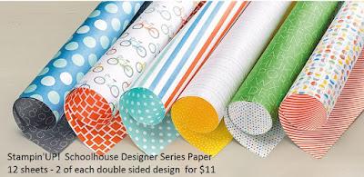Stampin'UP!'s Schoolhouse Designer Paper