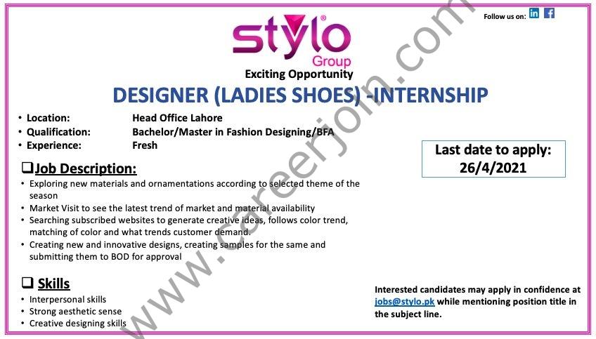 Stylo Pvt Ltd Internship 2021 in Pakistan - Send CV to jobs@stylo.pk - Career Opportunities in Stylo Pvt Ltd