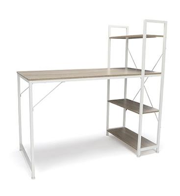 desk and bookcase combo