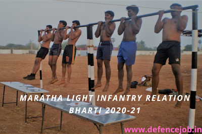 Maratha Light Infantry Relation Bharti 2020-21