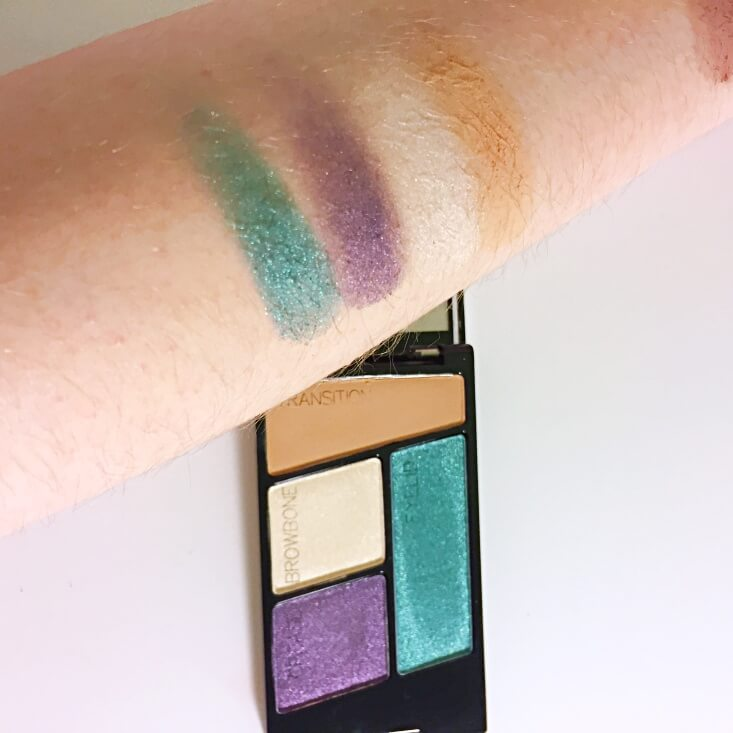 wet n wild coloricon Eyeshadow Quad Hasta LaCosta Baby swatch