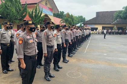 Pleno Berjalan Lancar , Kapolres Sumbawa Terjunkan Seratus Personil