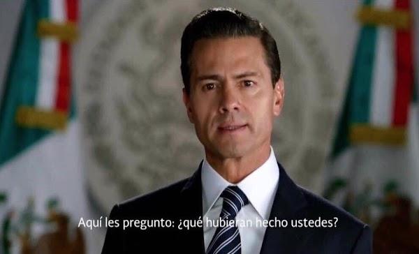 Dice Peña Nieto que hoy día el 99% de los mexicanos pagan menos por la luz