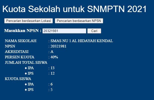 Pendaftararan SNMPTN dan SBMPTN