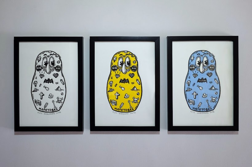 MATRYO$KA Limited Edition Prints, Linocut on Fabriano paper, 35x25 cm/each