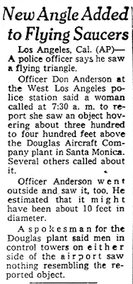 New Angle Added to Flying Saucers - Omaha World-Herald (9-16-1960)