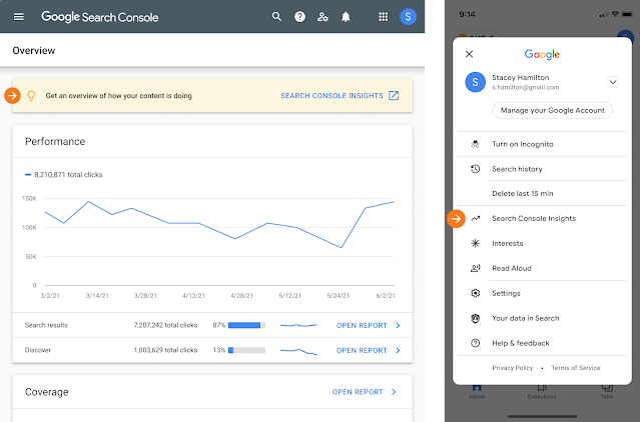 Même si vous n'utilisez pas Google Analytics, vous pouvez toujours utiliser Search Console Insights.