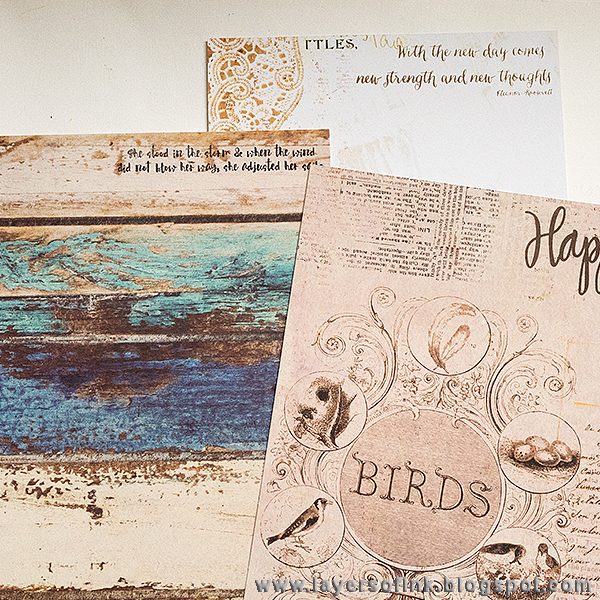Layers of ink - Summer Memories Album by Anna-Karin, with papers by Prima Flowers