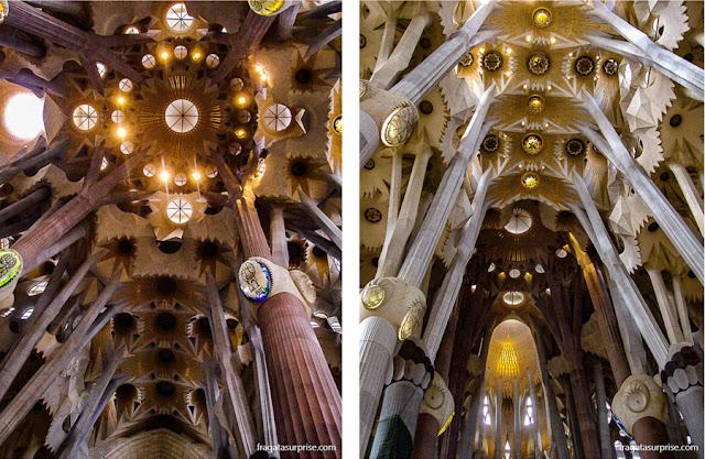 Interior da Basílica da Sagrada Família, Barcelona