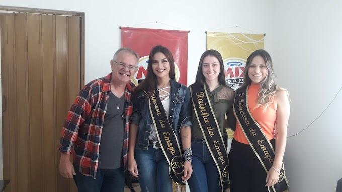 RAINHA E PRINCESAS DA EMAPA NA RÁDIO MIX FM