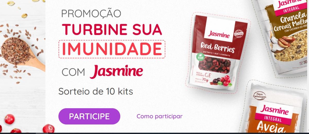 Promoção Jasmine Produtos 2021 Turbine Imunidade - Cadastrar - Kits e Ganhadores