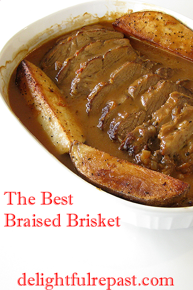 The Best Braised Brisket / www.delightfulrepast.com