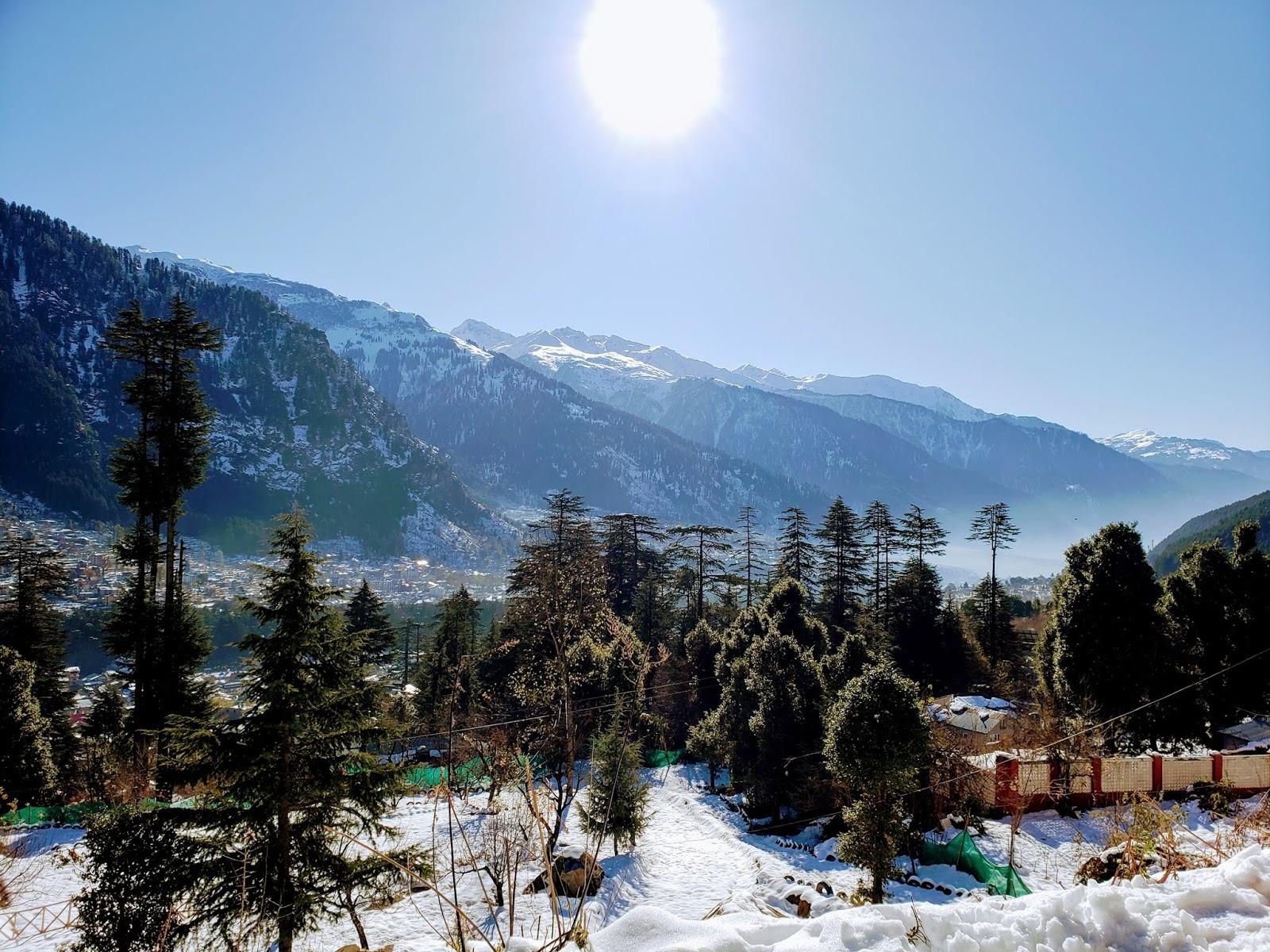 Amazing View from Children's Amusement Park near Hadimba Devi Temple