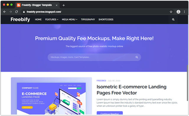 Freebify - Responsive Blogger Template