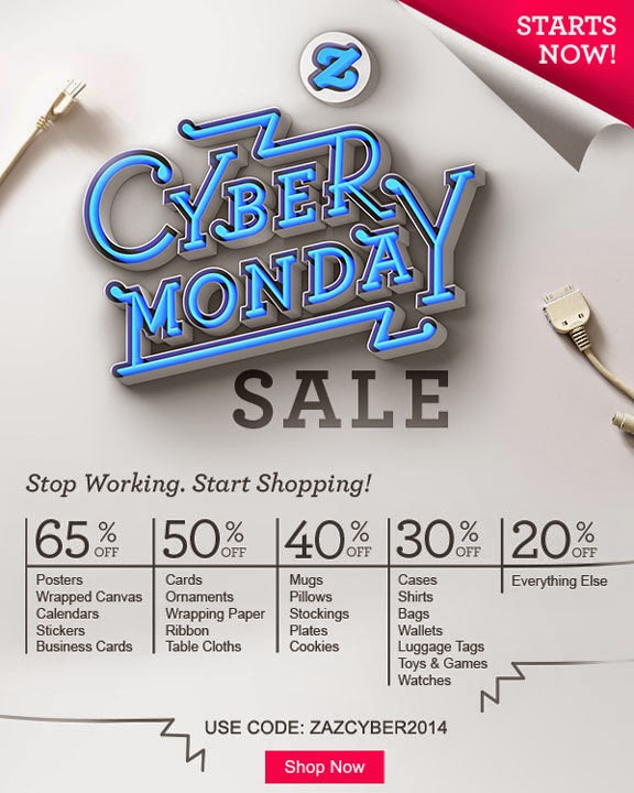 cyber monday sale at zazzle 2014