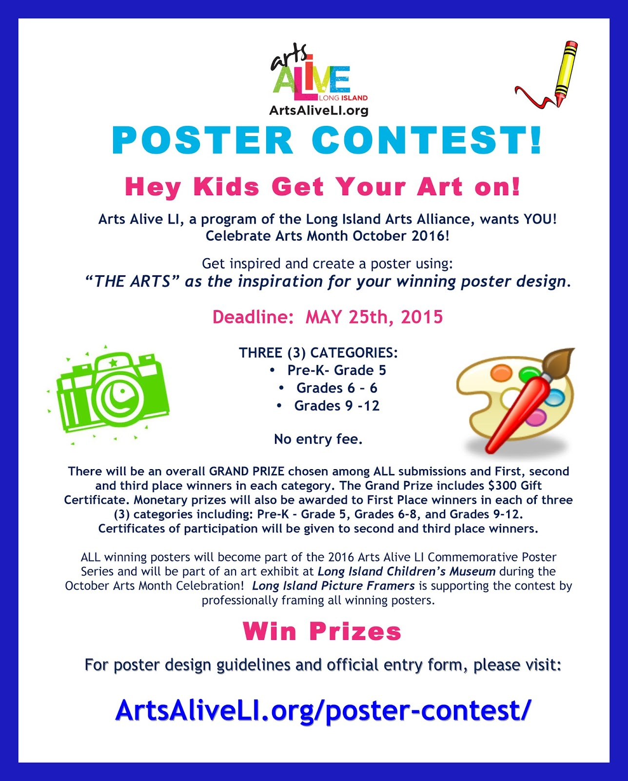 Art Room 161: Studio Art: Arts Alive Poster Contest