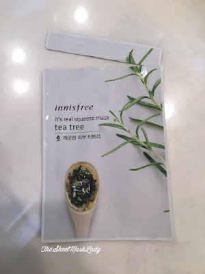 Innisfree It's Real Squeeze Tea Tree sheet mask