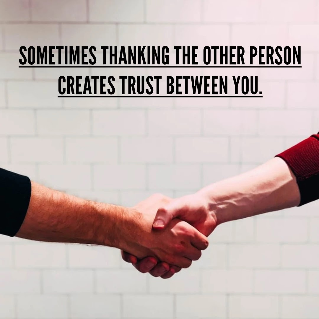 Shaking hands, thank you, quotes