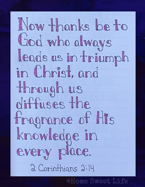 Scripture Writing, 2 Corinthians 2:14